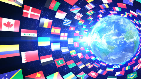 World Flags T Yrbe Stock Video Footage