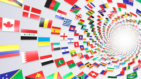 World Flags T Yrbw Stock Video Footage
