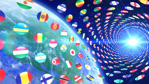 World Flags T Yrce Stock Video Footage