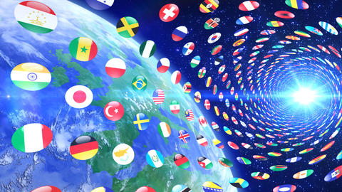 World Flags T Yrce CG動画