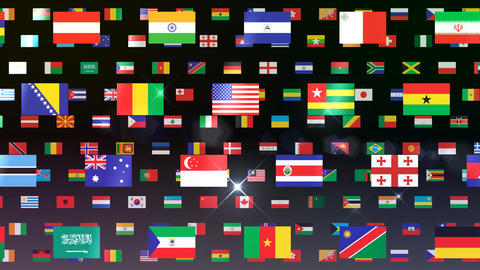 World Flags W Fbb Stock Video Footage
