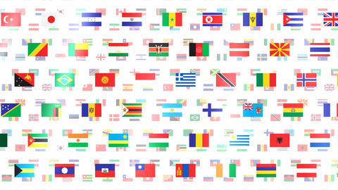 World Flags W Fbw Animation