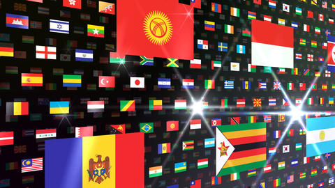 World Flags W Nbb Stock Video Footage