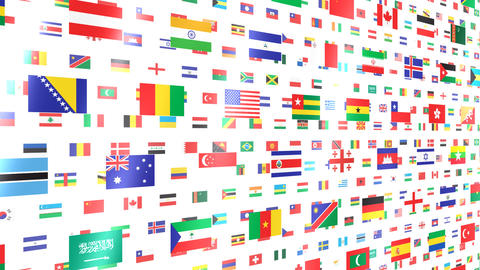 World Flags W Nbw Stock Video Footage