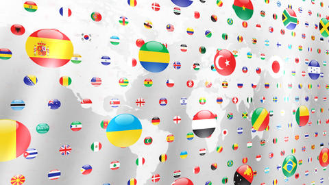 World Flags W Nce Stock Video Footage