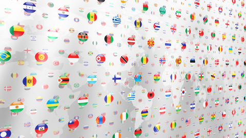 World Flags W Nce Animation