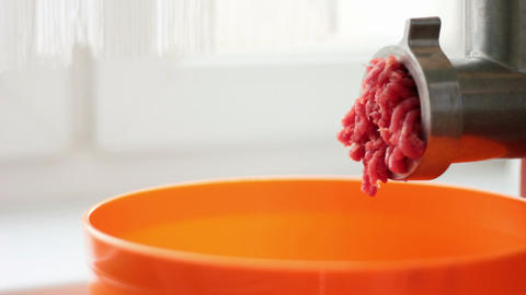 Mincing Meat Stock Video Footage