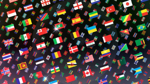 World Flags W Rbb Stock Video Footage