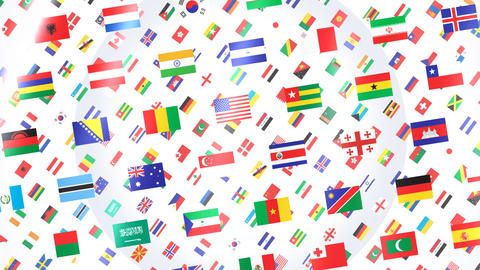 World Flags W Rbw CG動画