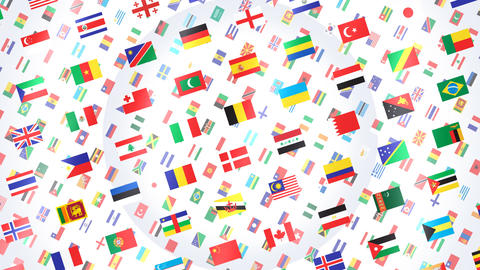 World Flags W Rbw Stock Video Footage