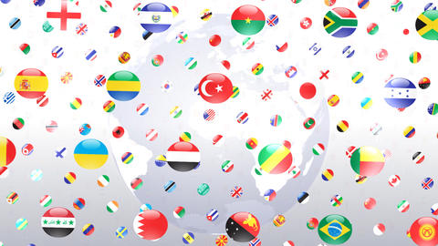 World Flags W Rce Stock Video Footage