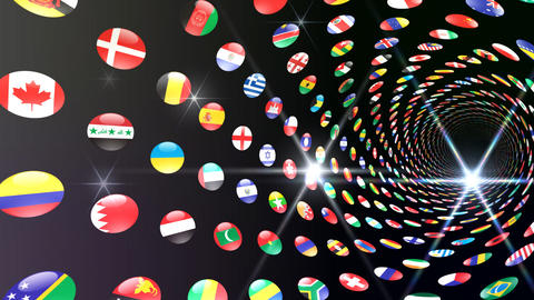World Flags T Yrcb Stock Video Footage
