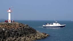 Dublin Bay Boat Ferry Howth Co. Dublin Footage
