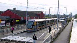 Luas Red Line Tram Dublin Footage