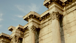 Hadrians Library Acropolis Of Athens Greece stock footage