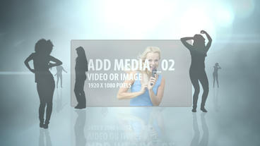 Clouded Silhouette Dancers AE Version 5 After Effects Template