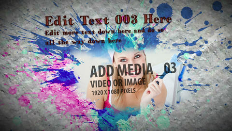 Paint Splatter Sequence AE Version 5 After Effects Template