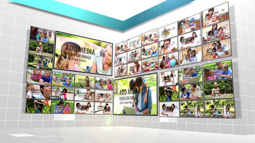 Rotating Video Wall AE Version 5 After Effects Template