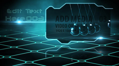 Futuristic Digital Display - AE Version 5 After Effects Template