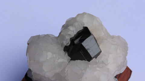Crystal calcite and marmatit Footage