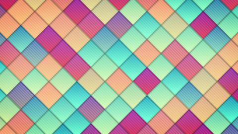 geometric pattern of colorful squares loop Animation
