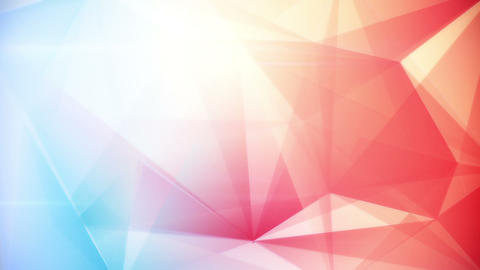 Abstract Triangle Geometrical Blue Red Background  stock footage