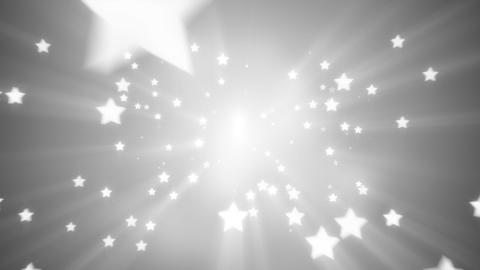 flying white star shapes loopable background Animation