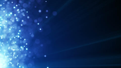flying blue particles seamless loop background Animation
