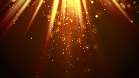 magic orange light rays and particles loop Animation