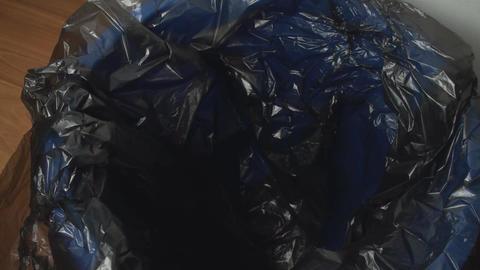 Piece Of Paper Thrown In A Trash Bin, Indoor, Eco, Footage
