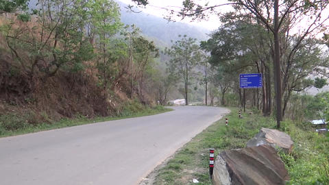 Slow Traffic On A Hilly Highway North-east India,  stock footage