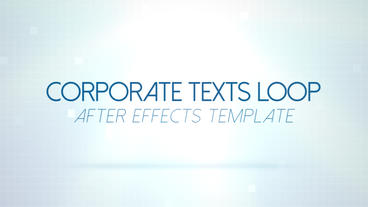 Corporate Texts Loop - After Effects Template After Effects Template