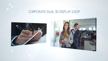 Corporate Dual 3D Display - After Effects Template After Effects Template