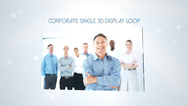 Corporate Single 3D Display - Apple Motion Template