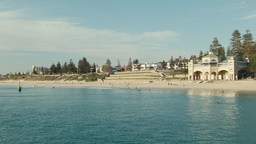 Clear Day at Cottesloe Beach in Perth, Western Aus Footage