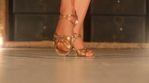 Leg Actress Girl In White stock footage