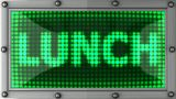 Lunch Announcement On The LED Display stock footage