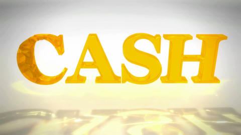 Ruined Cash word. Bankrupt and losing of money Stock Video Footage