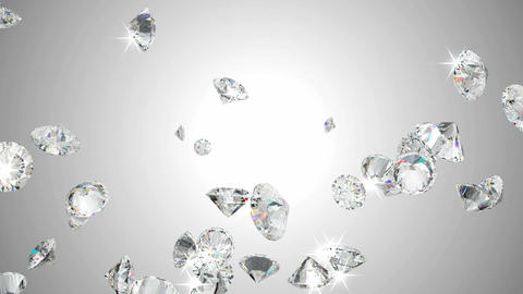 Large diamonds flow with slow motion Stock Video Footage