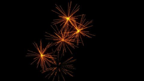 Fireworks with slow motion Footage