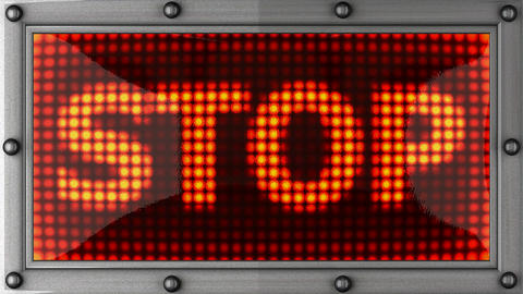 stop announcement on the LED display Animation