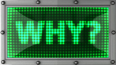 why announcement on the LED display Stock Video Footage