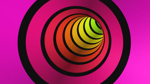 CGI Tunnel rainbow colors Stock Video Footage