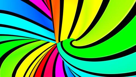 Running rainbow strips 5 Stock Video Footage