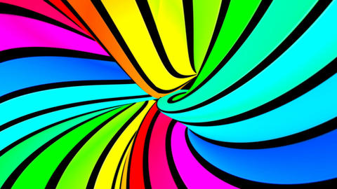 Running rainbow strips 5 Animation