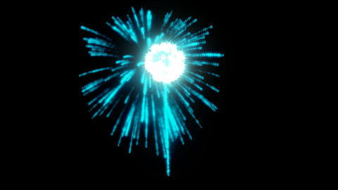 Blue rotating Fireworks with slow motion Stock Video Footage