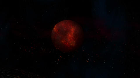 Burning Hot Lava Planet Animation
