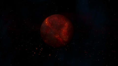 Burning Hot Lava Planet Stock Video Footage