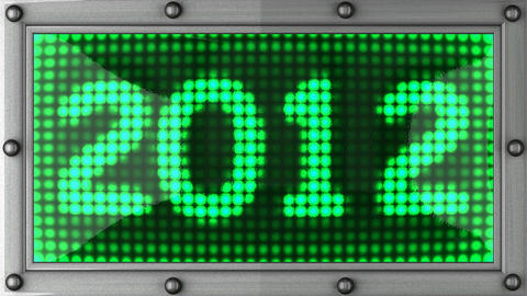 2012 announcement on the LED display Stock Video Footage