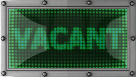 vacant announcement on the LED display Stock Video Footage